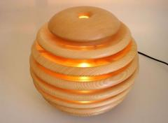 Table lamp wooden
