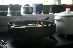 Electric Pan for Stir-Fry