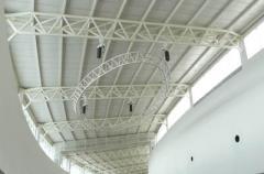 Aluminium truss structure