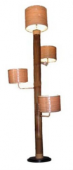 Floor lamp bases for stained glass lamps