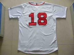 MLB RedSox #18 Home Jersey T-shirt