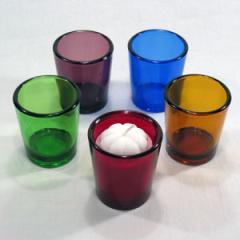 Сolor glass candle holder
