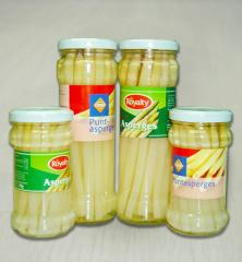 Asparagus in jar