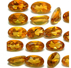 Natural Citrine Facet Calibrated Oval
