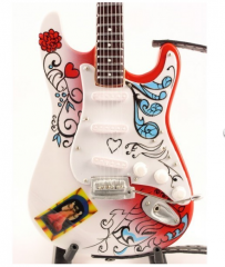 Exclusive collectible miniature wooden guitars
