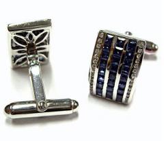 Blue Sapphire Cuff Links