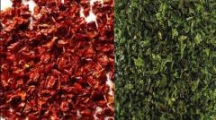 Frozen Red and Green Chili