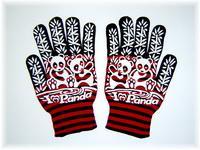 Panda with line glove