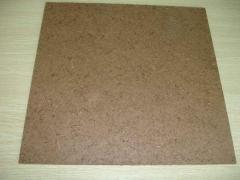 Hardboard made of eucalyptus wood chips and pulped