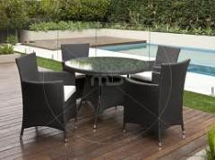 Outdoor Rattan Round Dining Set