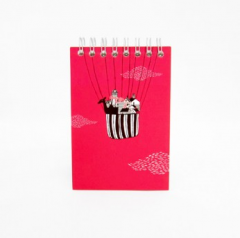 Spiral S Notebook vertical (Pink)