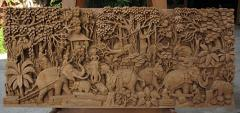Teak Carving Wall Picture