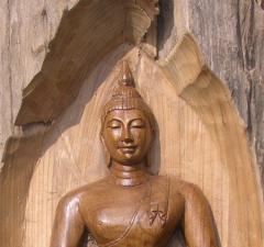 The Budha : Teak Carving Picture