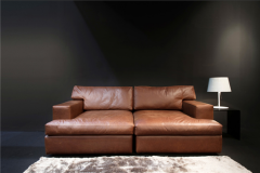 Leather couche Lego Lounge-Chaise