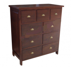 Genuine wood base cabinet drawers
