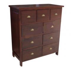 Genuine wood base cabinet drawers