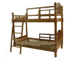 European classical second floor wooden bed