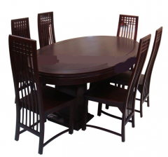 Genuine teak dining table set