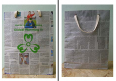 Recycled Newspaper Bag