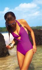 Purple swimming suit