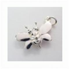 Kate Pendant silver bee
