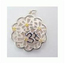 Kate Pendant silver flat flower