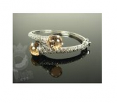 Bangle with Marcasite and Crysta