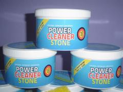 POWER-CLEANER-STONE REMOVES EVEN STUBBORN DIRT AND GRIME IS NONTOXIC AND ACID-FREE, BIODEGRADABLE AND ECO-FRIENDLY