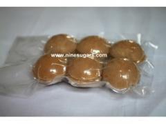 Coconut sugar in vacuum bag