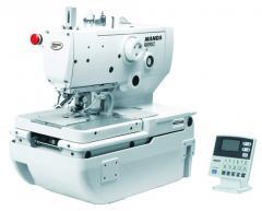 Electronic eyelet button holer sewing machine