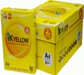Ik plus paper yellow,80GSM Sheet Size 210mm x