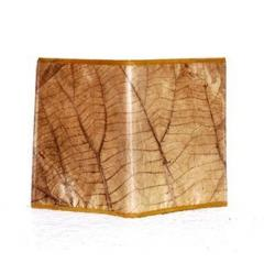 ECO VINTAGE NATURAL TEAK LEAF NOTEBOOK CASE COVER