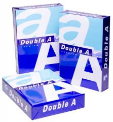 Paper Double A brand A4 copy papers 70, 75 And 80