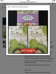 Foring and draff set dietary supplement