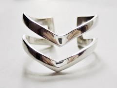 Double Chevron Ring