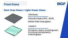 Light green float glass