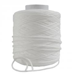 Factory wholesale ribbon 3mm white color elastic