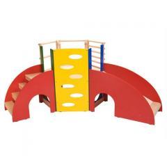 Wooden Slide and Climber Set