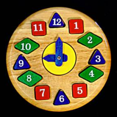 Wooden сlock toy