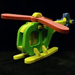 Foam Helicopter Puzzle
