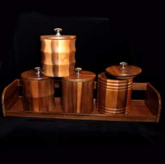 Wooden container set