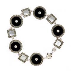 Silver Bracelet With Precious Stone