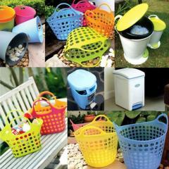 Shopping Basket & Dust Bin