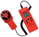 Anemometer with remote vane