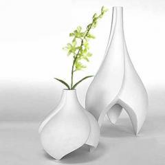 Ceramic vases in fancy shapes