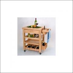 BV trolley with solid wood top
