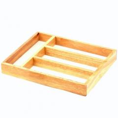 Rubberwood Tableware Container