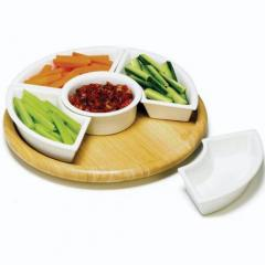 Rubberwood Starter Plate Set