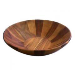 Large Acacia Wooden Salad Bowl