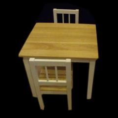 Rubberwood Desk and Chairs